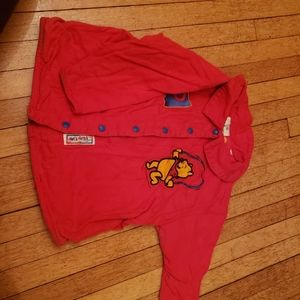 Disney store pooh bear embroidered jacket